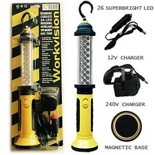 Rechargable 26 LED Long Life Cordeless Inspection Lamp Work Light Torch Magnetic
