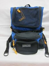 Lands End Backpack with detachable fanny pack BLUE and BLACK