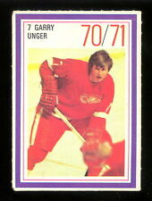 1970-71 ESSO POWER PLAYERS NHL #7 GARRY UNGER EX-NM RED WINGS UNUSED STAMP