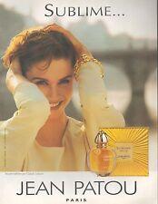 ▬► PUBLICITE ADVERTISING AD PARFUM PERFUME Jean PATOU Sublime 1994