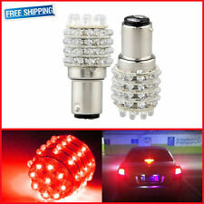 2x BAY15D 1157 1016 P21/5W T25 Red 45 LED Tail Brake Lights Turn Signal Bulb 12V
