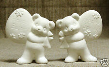 Ceramic Bisque Bears with Eggs Clay Magic Mold 1484 U-Paint Ready To Paint