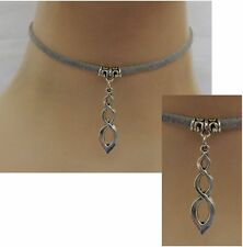 Silver Celtic Infinity Knot Choker Necklace Handmade Adjustable NEW Fashion