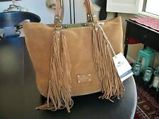 PATRICIA NASH Boho Suede Fringe Tote / Shopper / Shoulder Bag Purse NWT