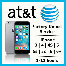 PREMIUM SPEED FACTORY UNLOCK SERVICE - AT&T - APPLE IPHONE 6S 6+ 6 5S 5C 5 4S 4