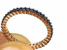 TURKISH HANDMADE SAPPHIRE 925 STERLING SILVER RING SIZE 6.75 R-657