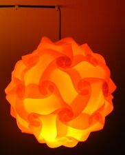 Puzzle lampshade vintage lampshade puzzle lamp orange 28 cm Diameter UK seller