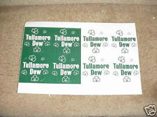 Tullamore Dew Irish Whiskey..Page of Stickers..St. Pats