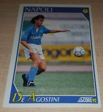 CARD SCORE 1992 NAPOLI DE AGOSTINI CALCIO FOOTBALL SOCCER ALBUM