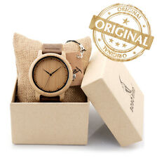 ORIGINAL BOBO BIRD Men Bamboo Wood Watches Men and Women Fashion Casual Leather