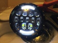 "JEEP WRANGLER JK TJ 7"" NERO LED FARI 105watt Indicatore Flash"