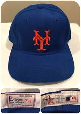VTG New York Mets Hat 7 1/4 MLB Pro Sports Specialties 100% Wool Fitted