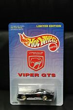 1997 HOT WHEEL DODGE VIPER CLUB AMERICA LIMITED EDITION REALRIDER 1 of 9999 Made