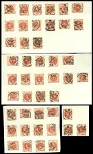 GB QV 1887 HALFPENNY POSTMARKS COLLECTION..PRINTED MATTER PreCANCELS..45 stamps