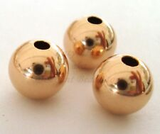 5x 8mm 14k ROSE gold filled round seamless bead spacer high polish shiny RB08