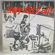1977 NCAA CHAMPION UNIVERSITY WISCONSIN BADGERS: They Did It All LP Hockey VG-