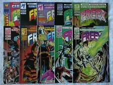 FREEX mixed lot of 10 comics #2 to #13 + Giant Size #1 (Ultraverse 1993+) Mint!