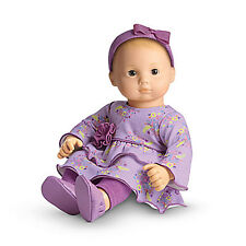 American Girl BITTY BABY  PURPLE POSIES OUTFIT for Baby Dolls Clothes Shoes NEW