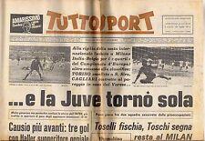 rivista TUTTOSPORT - 24/03/1972 N. 113 ...E LA JUVE TORNO' SOLA