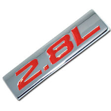 CHROME/RED METAL 2.8L ENGINE RACE MOTOR SWAP EMBLEM BADGE FOR TRUNK HOOD DOOR