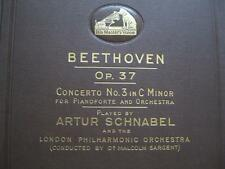 BEETHOVEN Op 37 #3 C Minor- 5 x78 Record Set HMV DB 1940-4 Schnabel - M. Sargent