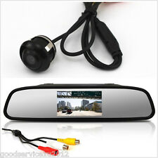 "4.3"" LCD Car Rearview Mirror Monitor & Reverse Parking 360° View Camera Tool Kit"