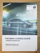 BMW 4 SERIES COUPE F32 HANDBOOK OWNER MANUAL 2013-2015 BOOK 6691