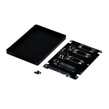 "Mini PCIE mSATA SSD To 2.5"" SATA3 Adapter Interface Card Mit Case Weiß Schwarz"