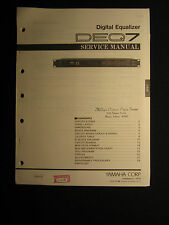Yamaha Digital Equalizer DEQ7 Service Shop Manual Schematics Parts List DEQ-7