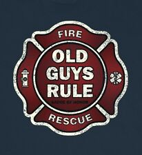 """OLD GUYS RULE """" BADGE OF HONOR """" FIRE AND RESCUE BEACH  S/S SIZE M"""