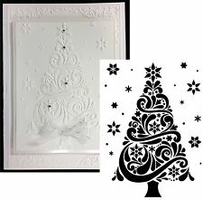 Swirl CHRISTMAS TREE Embossing Folder DARICE embossing folders 1218-118 Holidays