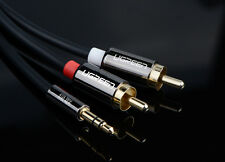 1.5M/5' TOP Audio Cable Stereo 3.5mm to RCA kable For TV/MP3/PC/Speaker-High end