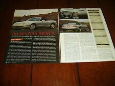 1999 MAZDA MIATA  ***ORIGINAL ARTICLE / SPECIFICATIONS***