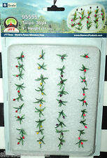 """JTT SCENERY 95555 TULIPS 1"""" O-SCALE  ASSORTED COLORS 36 PER PACK     JTT95555"""
