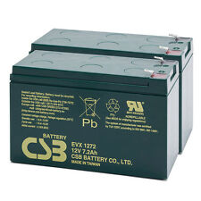 CSB 12V 7.2AH Pair Mobility Scooter Sealed Lead Acid Batteries EVX12272 Battery