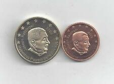 2 UNC. PROBE COINS...VATICAN...2 & 50 CENTS...BOTH 2005