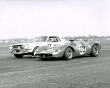 Vintage 8 X 10 1967 Daytona 24 Ferrari 330 P4 Winner & Mustang Racing Photo