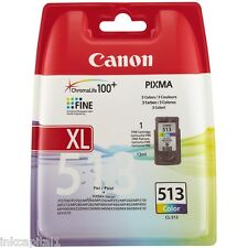 Canon CL-513, CL513 Original OEM Color Cartucho Inyección De Tinta Para MP499