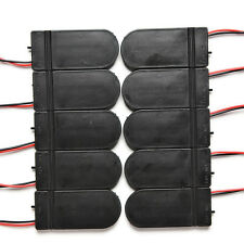 10X DIY 3V Button Coin Cell Battery Holder Case Box With On-Off Switch CR2032