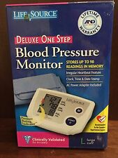 Life Source Deluxe One Step Blood Pressure Monitor Large Cuff UA-767PCNLAC