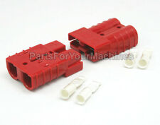 2 CONNECTOR PLUGS w/ #8 CONTACTS,  SB50A 600V, ANDERSON, MOBILITY SCOOTERS, 4X4