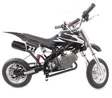 50CC BLACK POCKET BIKE MINI MOTO PIT DIRT BIKE KIDS OFF ROAD CROSSER SCRAMBLER