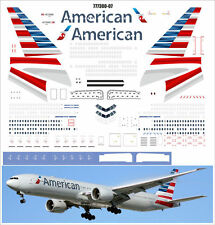 1/144 PAS-DECALS. ZVEZDA. BOEING 777-300 AMERICAN AIRLINES