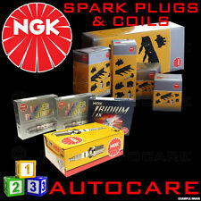 NGK Spark Plugs & Ignition Coil Set BKUR5ET-10 (7553) x4 & U6020 (48114) x1