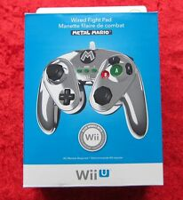 Wired Fight Pad Metal Mario Original Nintendo Wii U Kabel-Controller, Neu OVP