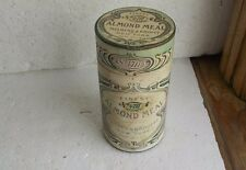 """1890s ALMOND MEAL UNOPENED CARDBOARD """"TIN"""" FOR THE SKIN MULHENS & KROPFF NY"""