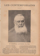 Charles Martial Lavigerie Cardinal  France JOURNAL COMPLET 16 PAGES 1893