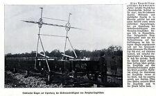 Aerotechnisches Institut St.Cyr: Spezialwagen zur Erprobung von Tragflächen 1911
