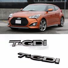 Side Front Trunk Hairline Emblem Point T GDI Logo Badge 2p for All Vehicle