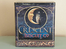 Vintage-Look Tin Food Safe Crescent Biscuit Company Metal Canister Can
